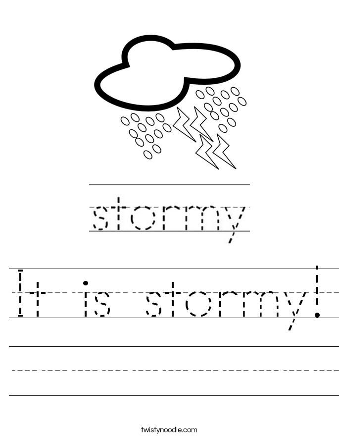 It is stormy! Worksheet