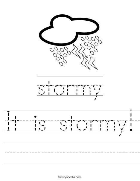 Stormy Worksheet