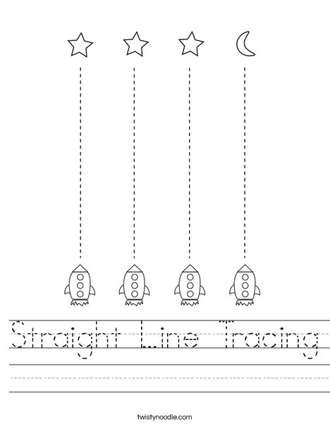 Straight Line Tracing Worksheet