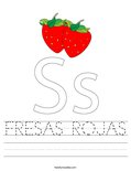 FRESAS ROJAS Worksheet