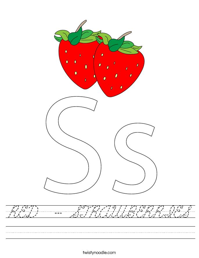 RED  - STRAWBERRIES Worksheet