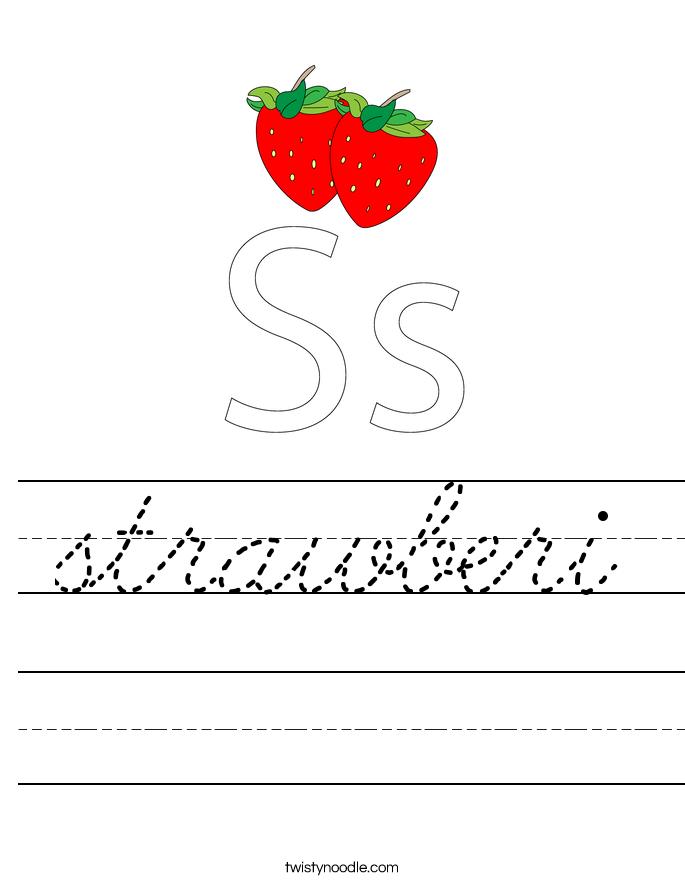 strawberi Worksheet