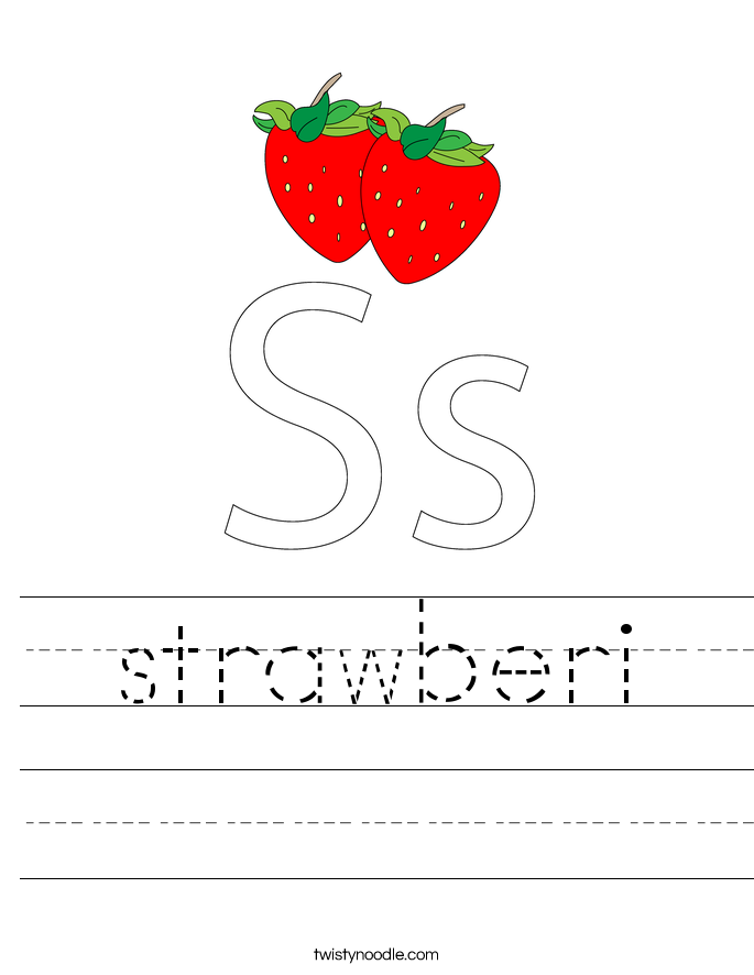 strawberi Worksheet