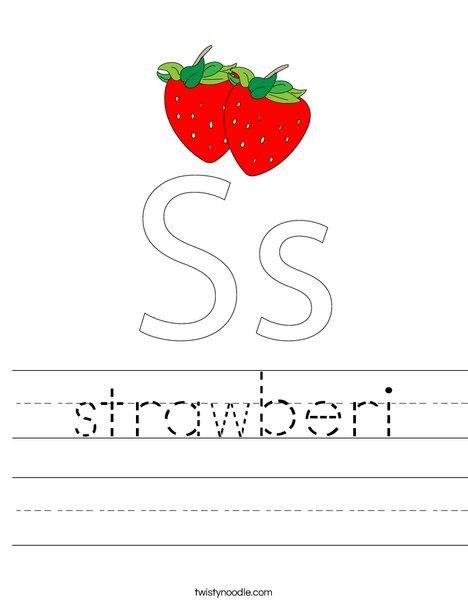 Strawberries Worksheet