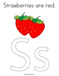 Strawberries are red.Coloring Page