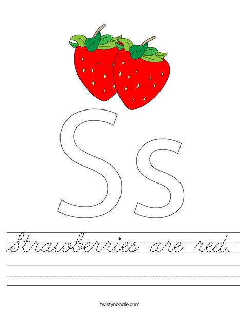 Strawberries Worksheet