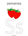 zemenes Coloring Page