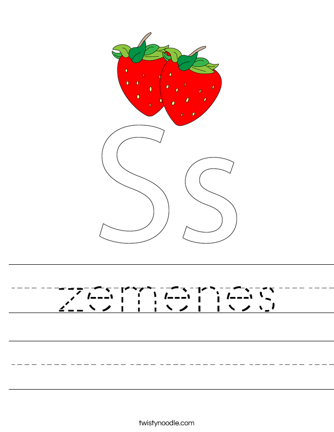 zemenes Worksheet