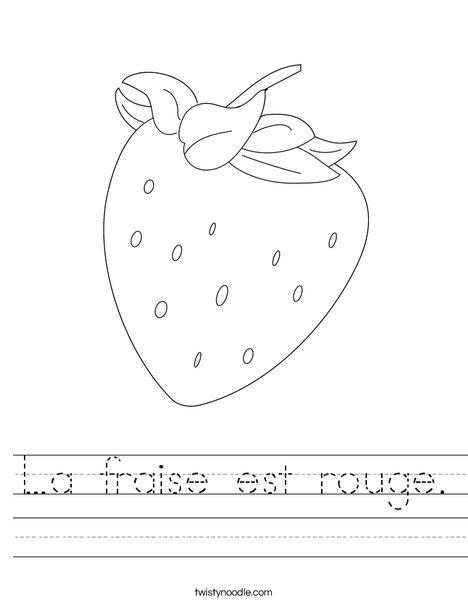 Strawberry Worksheet