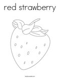 red strawberryColoring Page