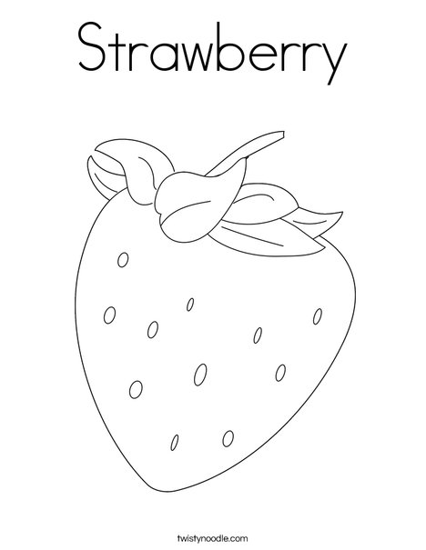 Strawberry Coloring Page