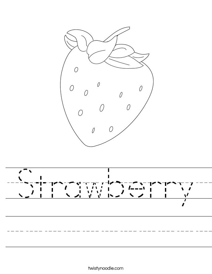Strawberry Worksheet - Twisty Noodle