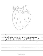 Strawberry Handwriting Sheet