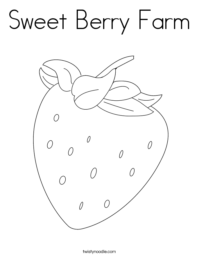 Sweet Berry Farm Coloring Page