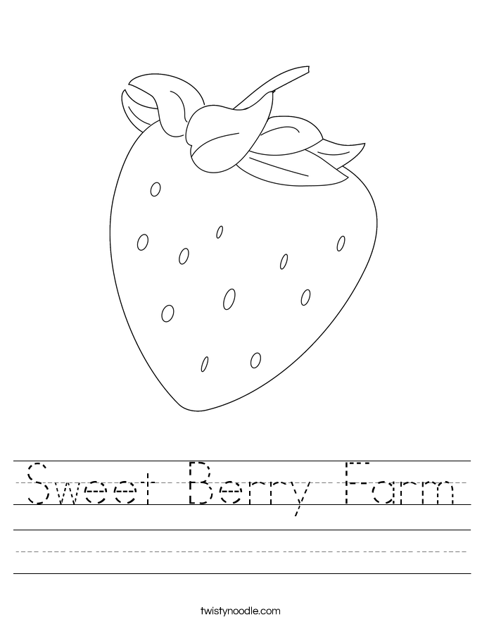 Sweet Berry Farm Worksheet