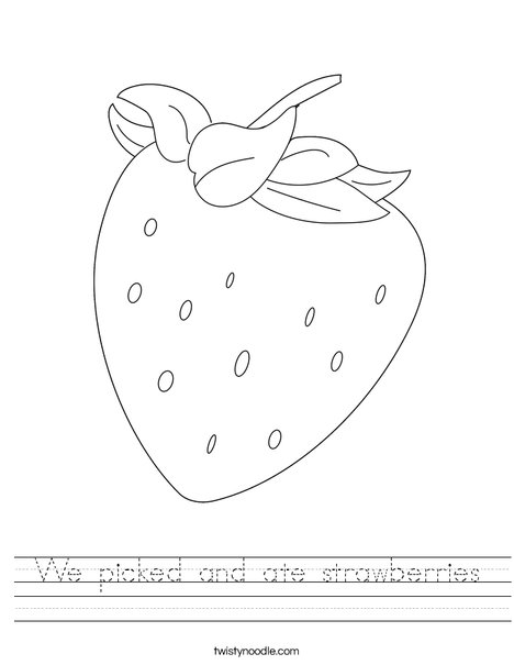 Strawberry Worksheet