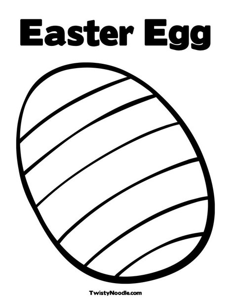 easter eggs coloring pictures. Striped Easter Egg Coloring