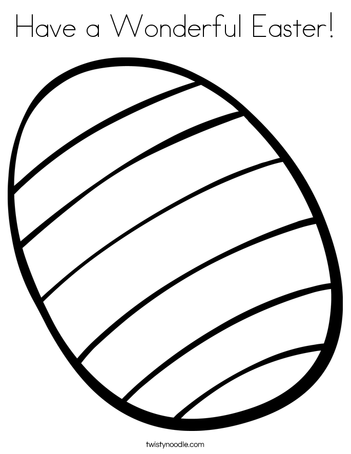 Have a Wonderful Easter! Coloring Page