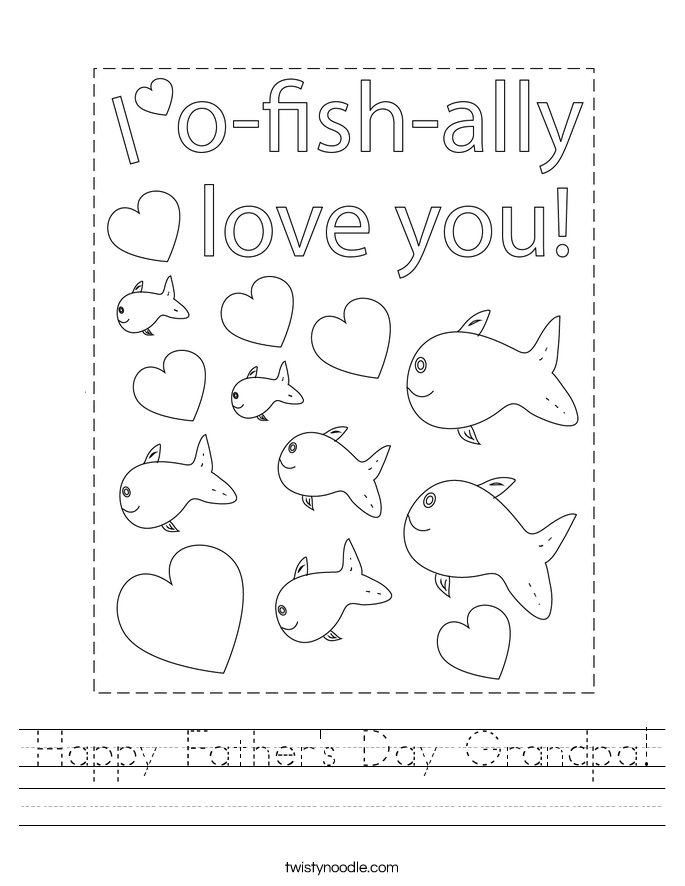 Happy Father's Day Grandpa! Worksheet