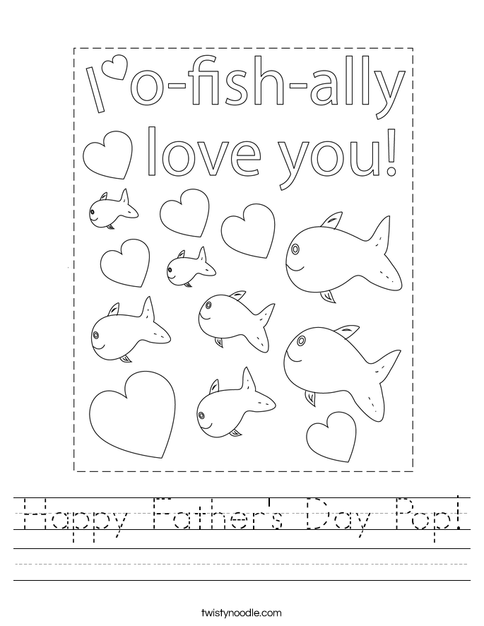 Happy Father's Day Pop! Worksheet