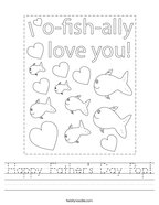 Happy Father's Day Pop Handwriting Sheet