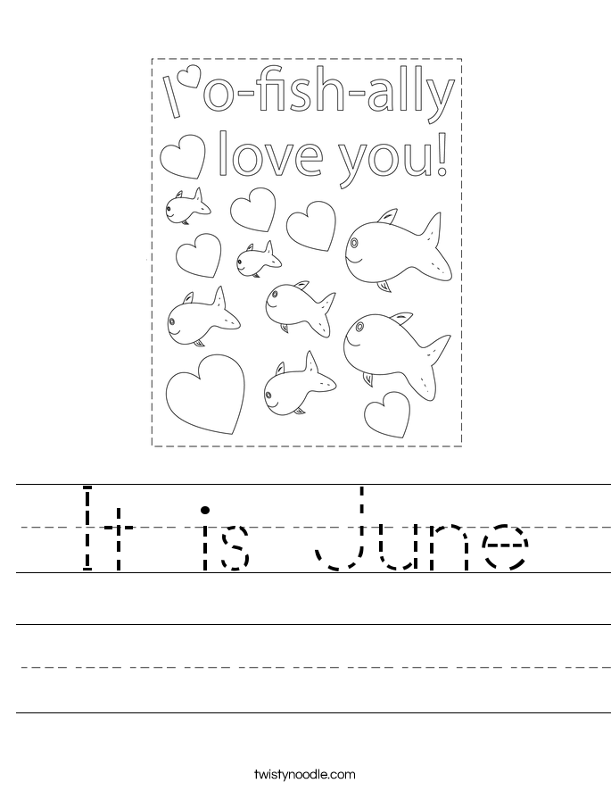 It is June Worksheet