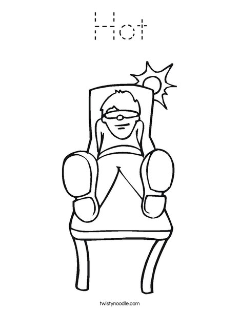 Boy Sitting in the Sun Coloring Page