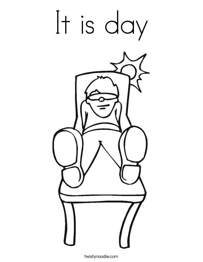 It is day Coloring Page