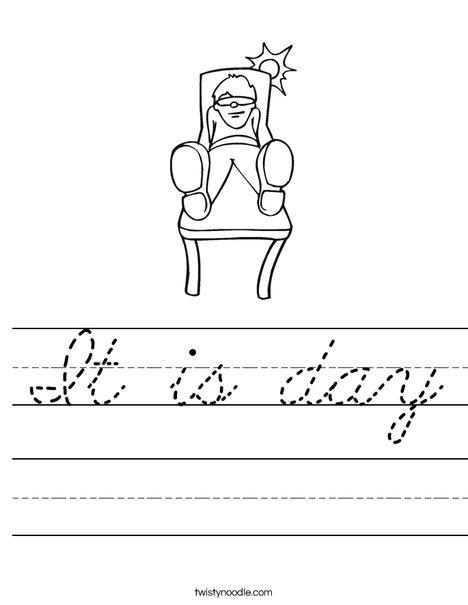 Boy Sitting in the Sun Worksheet