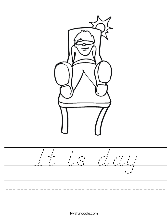 It is day Worksheet