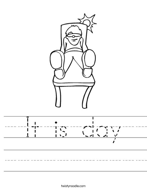 Boy Sitting in the Sun Worksheet