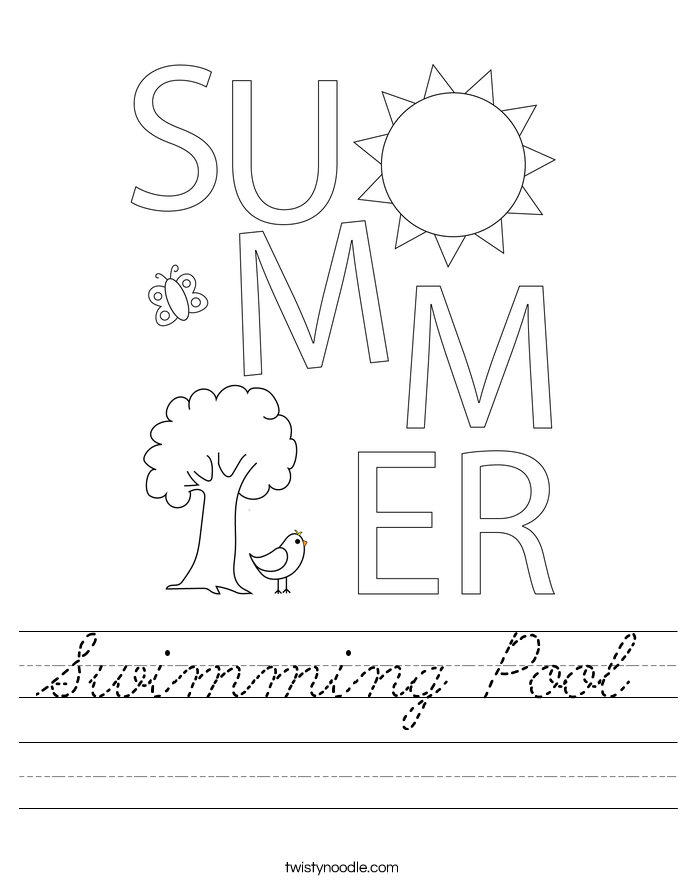 Swimming Pool Worksheet