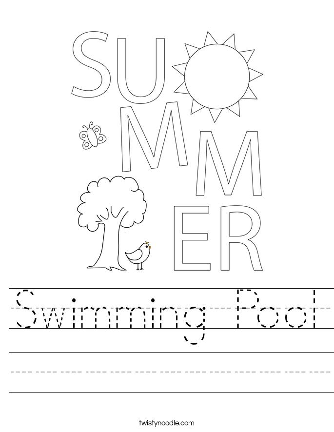 Swimming Pool Worksheet
