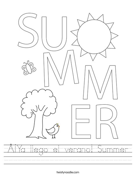 Summer Worksheet