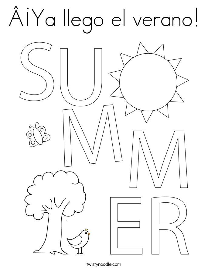 ¡Ya llego el verano! Coloring Page