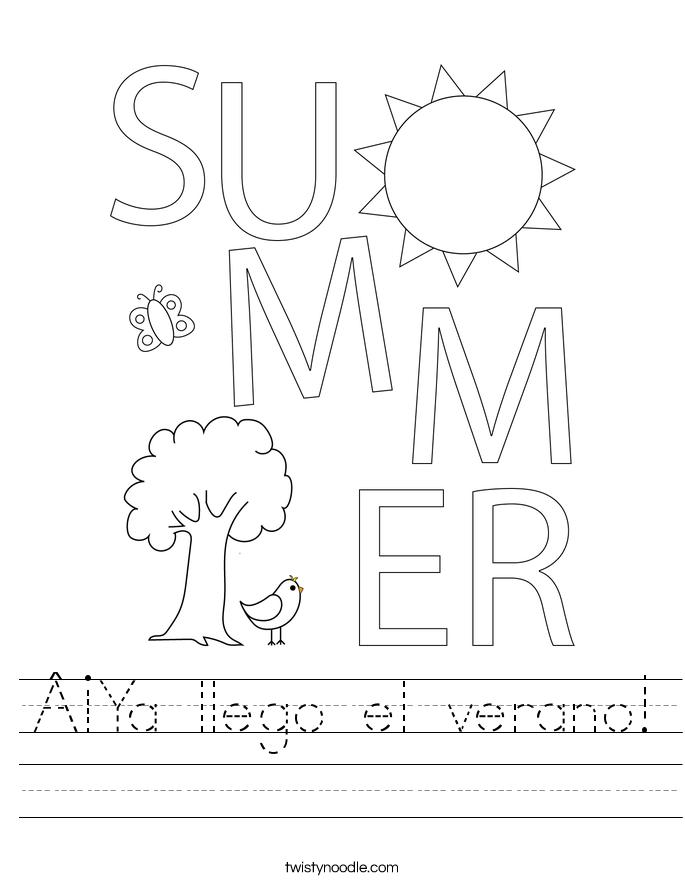 ¡Ya llego el verano! Worksheet