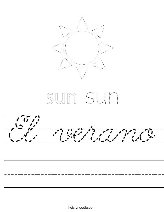 El verano Worksheet