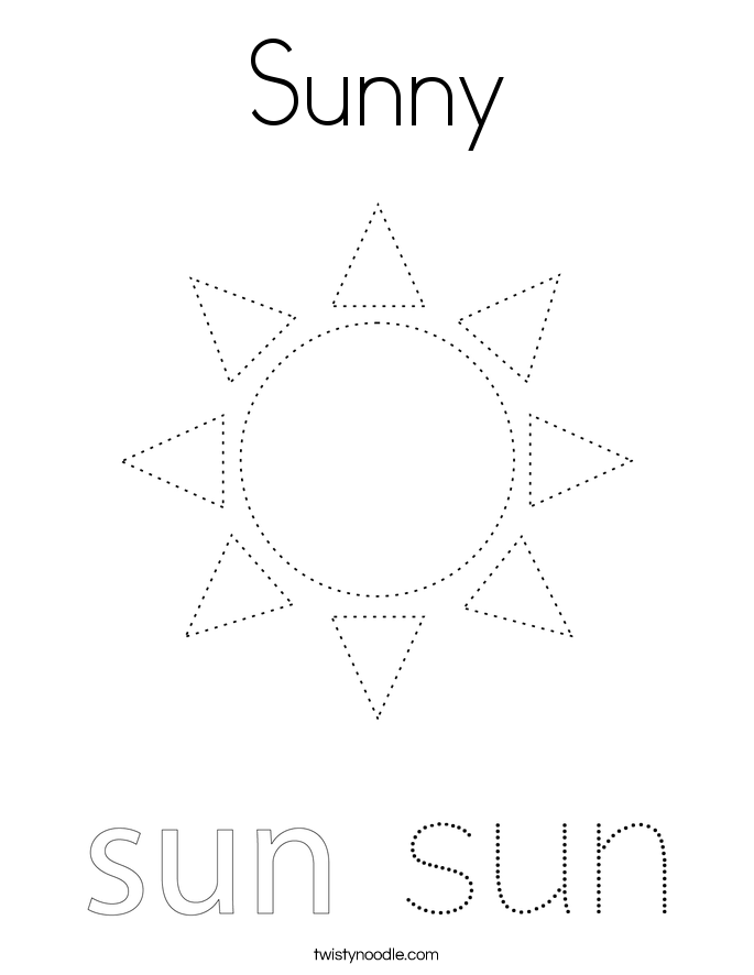 Sunny Coloring Page