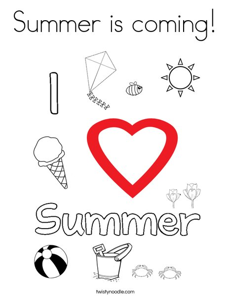 Summer is coming! Coloring Page