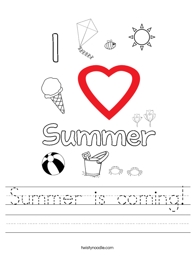 Summer is coming! Worksheet