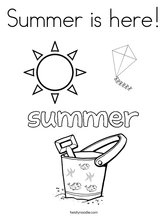 Summer is here! Coloring Page