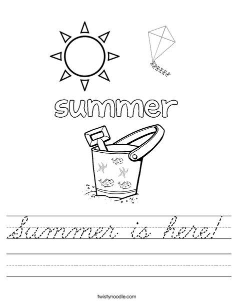 Summer is here! Worksheet