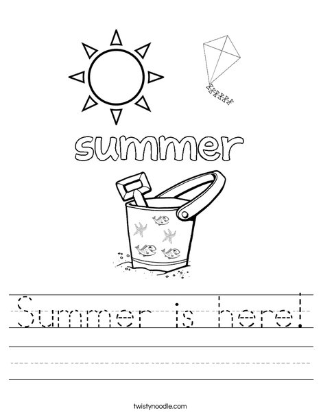 Summer is here! Worksheet