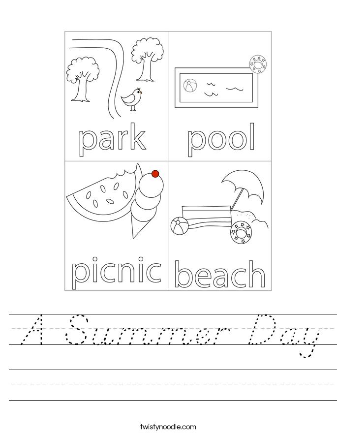 A Summer Day Worksheet