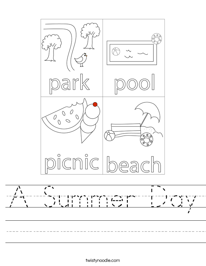 A Summer Day Worksheet