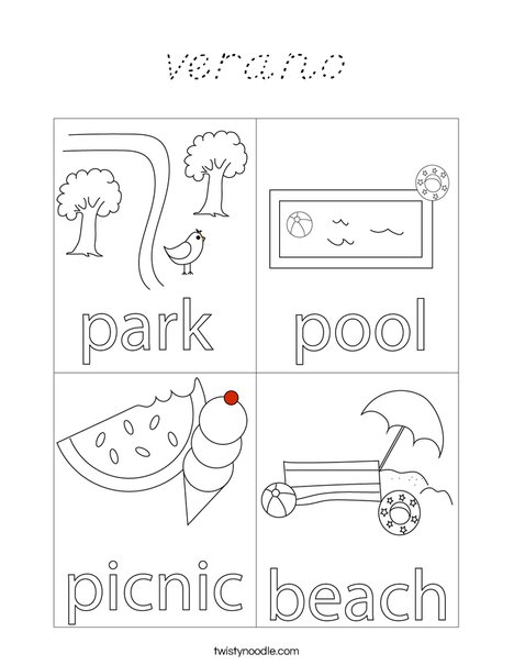 Boy Sitting Under a Tree Coloring Page