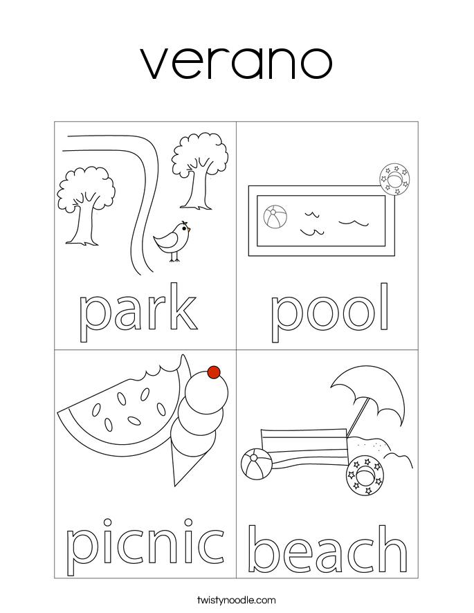 verano Coloring Page