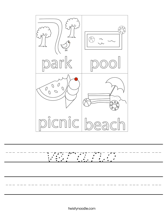 verano Worksheet