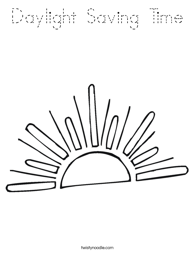 Daylight Saving Time Coloring Page