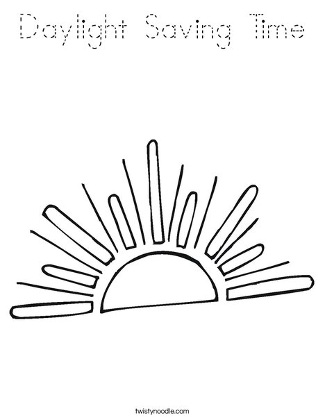 Setting Sun Coloring Page